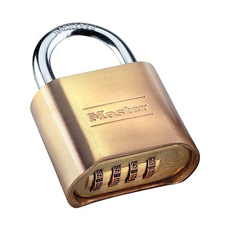 cadenas master hardened master lock resettable combination lock brass by office