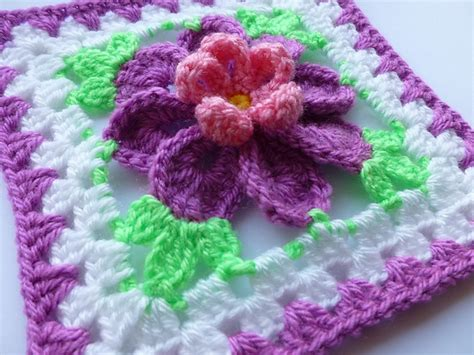 flower pattern granny square flower in granny square 3 pattern by crochet atelier