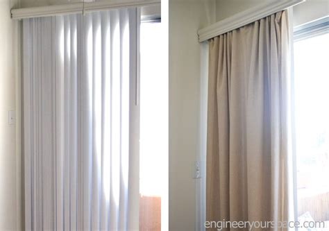 curtain over blinds how to conceal vertical blinds with curtains smart diy