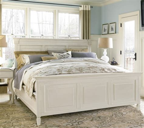panel bed frame country chic white king panel bed frame zin home