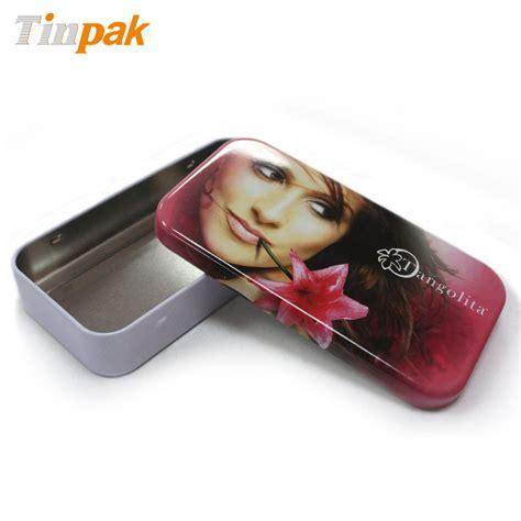 Mini Rect 2pc empty rectangle lip gloss tin box factory