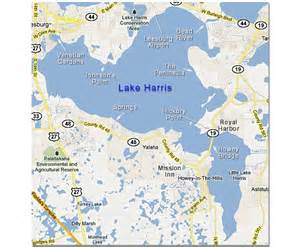 map of big and lake harris in the harris chain of