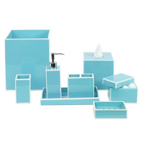 turquoise bathroom accessories dwellstudio modern border azure turquoise bath accessories