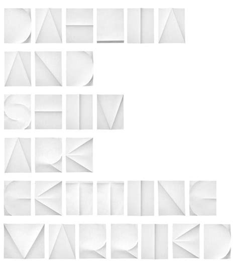 Folded Paper Design - folded paper font by spinat core77