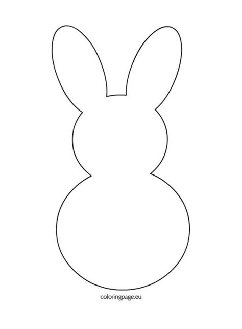 easter rabbit template free rabbit template cliparts co