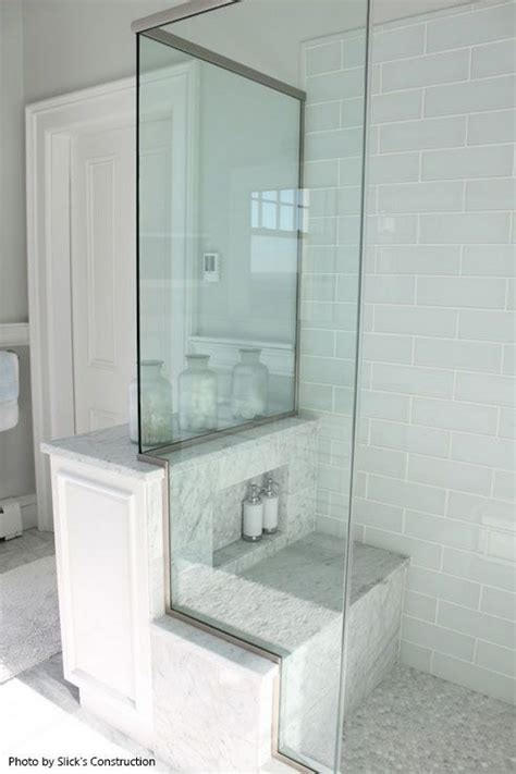 Showers With Seats And Glass Doors Walk In Shower With A Back Shower Seat Glass Shower Doors