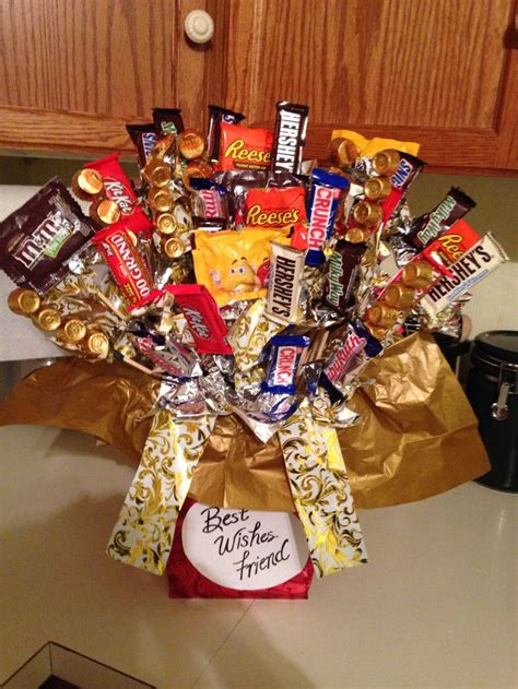 farewell themes names candy bar bouquet i made for going away gift for friends