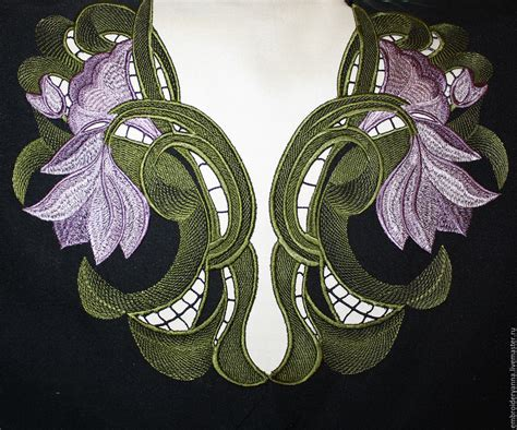 Embroidery Designs Handmade - buy design for machine embroidery floral neckline