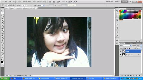 tutorial photoshop cs3 mewarnai rambut tutorial mewarnai rambut dan mata di photoshop hanis cah