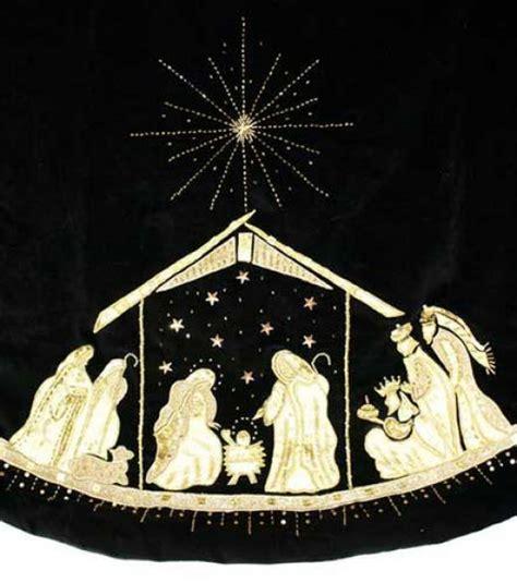 nativity christmas tree skirts christmas pinterest