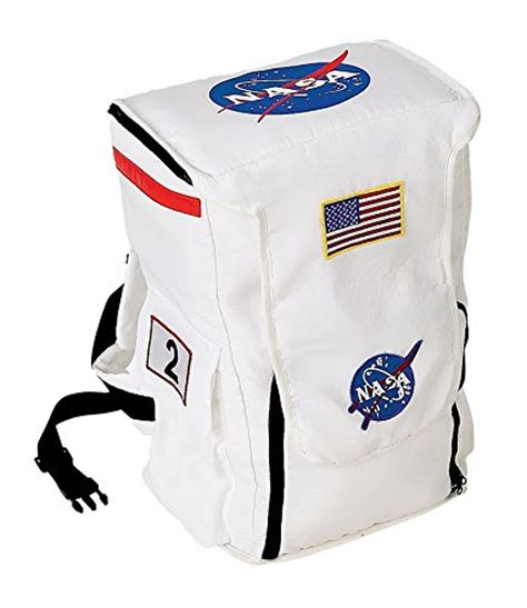 417 Import Backpack aeromax jr astronaut backpack white with nasa patches
