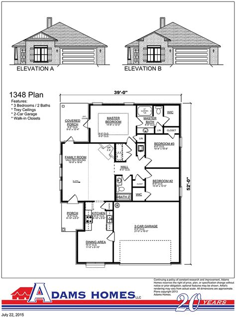 adams home floor plans chesapeake adams homes