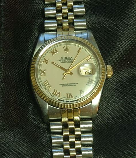 Rolex Swis Ori J455 1980 An 5044 rolex oyster perpetual datejust steel and gold a