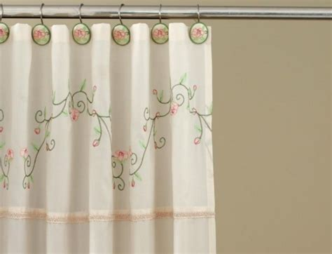victorian shower curtain victorian pink ivory floral fabric shower curtain and