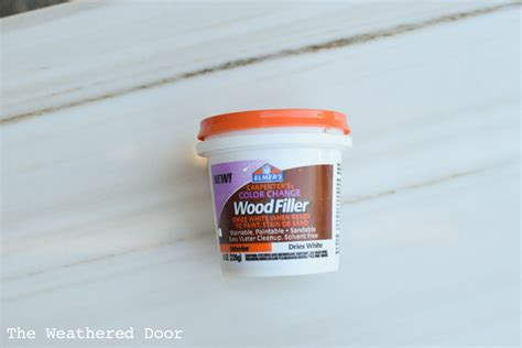 Furniture Repairs Bondo Vs Wood Filler The Weathered Door