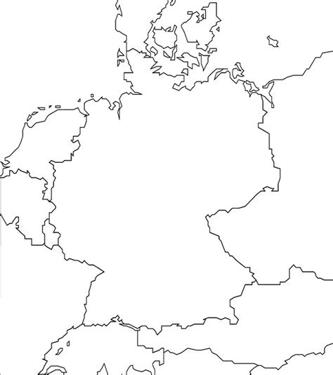 germany map and surrounding countries 1 outline map of germany and surrounding countries