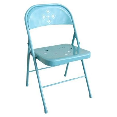 Teal Folding Chair by Folding Chair Perforated Teal A Cottage Of Own