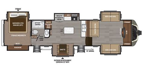 montana fifth wheel floor plans full specs for 2017 keystone montana 3731fl rvs rvusa com