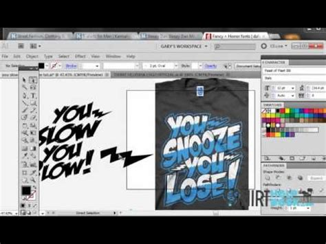 illustrator jersey tutorial using fonts to make awesome t shirt designs illustrator