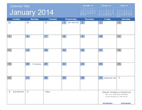printable calendar select dates an easy to edit 2014 calendar template for excel