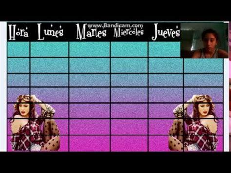 imagenes de horarios de soy luna como hacer un horario de clase en photoscape edicion s