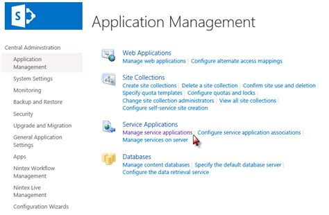 workflow service application select the project server service application and in the
