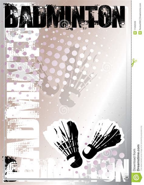 Badminton Silver Poster Background Stock Vector   Image