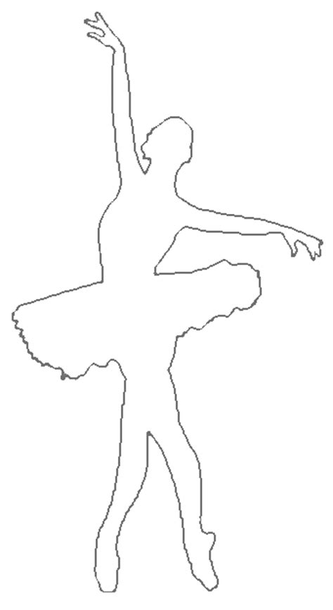 Dancer Outline by Ballerina Outline Cliparts Co