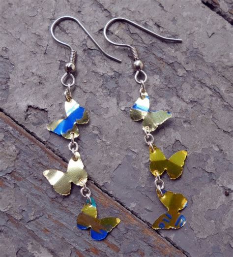 how to make recycled jewelry how to make earrings from recycled aluminum soda can