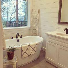 shiplap tub surround this master bath the shiplap freestanding tub and