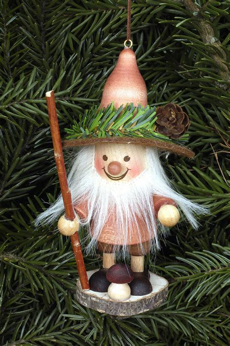 tree ornament forest gnome natural 11 5cm 5in by
