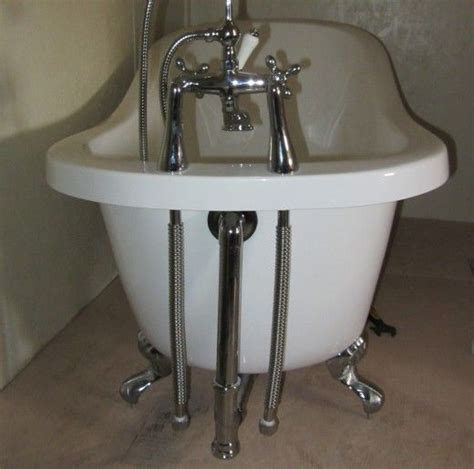 plumbing for bathtub flex pipes connected to clawfoot tub bathrooms with
