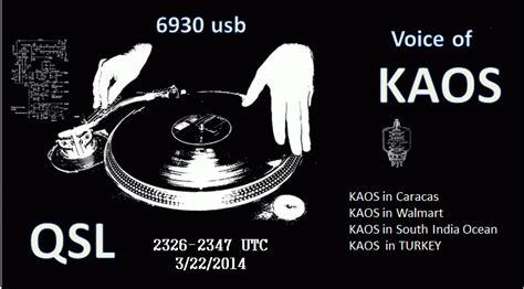 Kaos Band Radio 08 free radio from america the voice of kaos hugo s dx