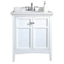 30 X 19 Bathroom Vanity Shop Ove Decors Campo Pure White Undermount Single Sink