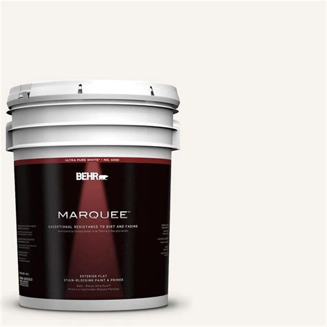 Behr Home Decorators Collection by Behr Marquee Home Decorators Collection 5 Gal 1875 Polar Flat Exterior Paint 445005 The