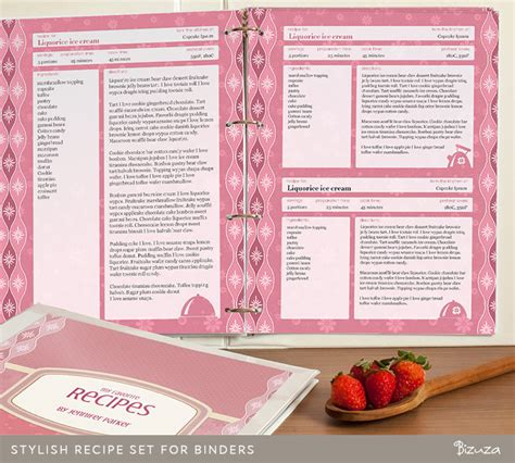 free recipe templates for binders recipe binder set printable recipe pages binder cover and