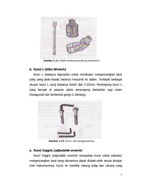 Kunci Shock L Pemeliharaan Peralatan Bengkel