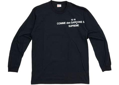 Supreme Longsleeve supreme comme des garcons sleeve black