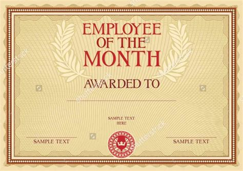 employee of the month certificate template employee of the month certificate template pdf