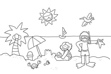 Dibujos Infantiles Para Colorear Del Verano | dibujos infantil colorear verano doslourdes