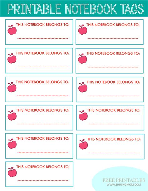 Printable Notebook Labels | new project back to school notebook and book labels