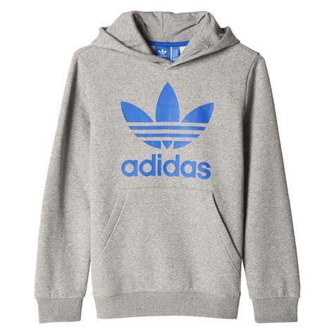 Sweater Adidashoodie adidas adidas originals j trefoil hoodie sweaters and sweatshirts medium grey