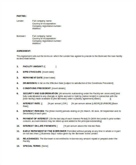 company loan agreement template intercompany loan agreement template loan agreement form