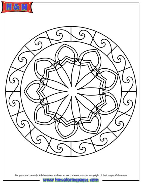 abstract mandala coloring pages