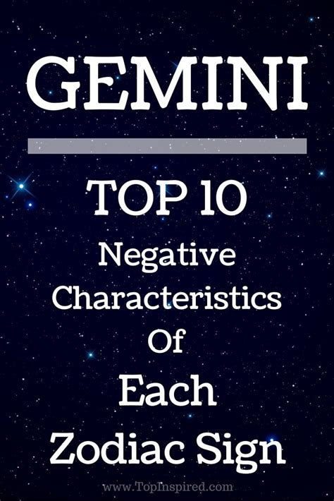 best 28 negative traits of gemini gemini negative