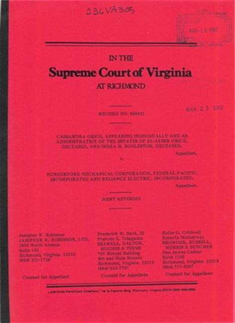 Virginia Va Court Records Virginia Supreme Court Records Volume 236 Virginia Supreme Court Records
