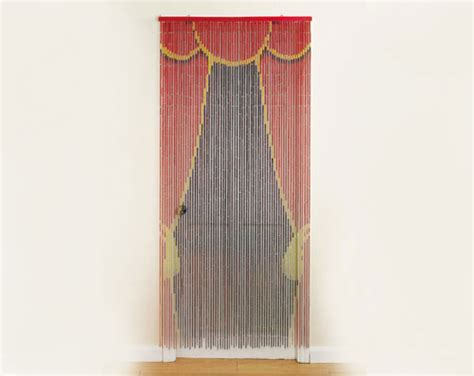 Bamboo door curtains in various patterns