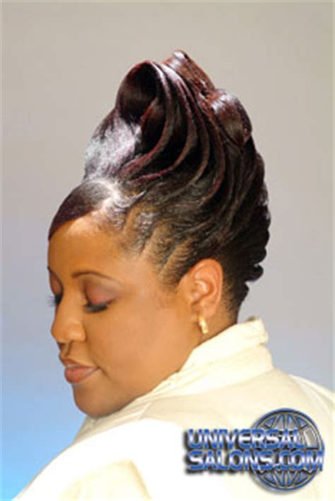 university studio black hair styles updo hairstyle with ridges from garnett jett