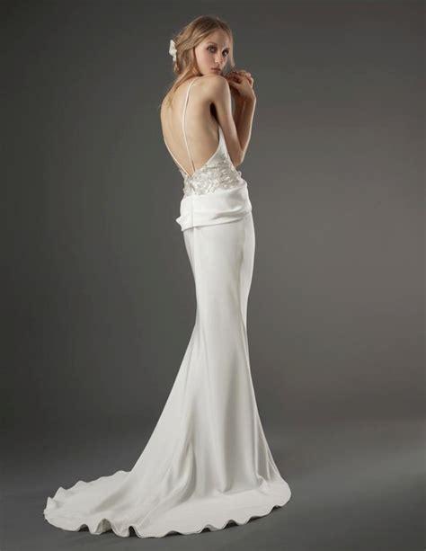 elizabeth fillmore wedding dress open back silk onewed com