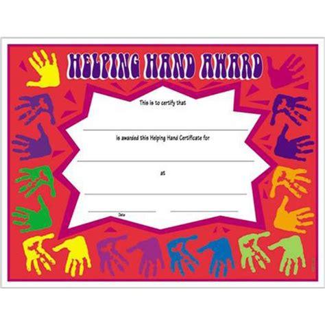 volunteer award certificate template helping hand certificate 8 1 2 x 11 helping hand certificates